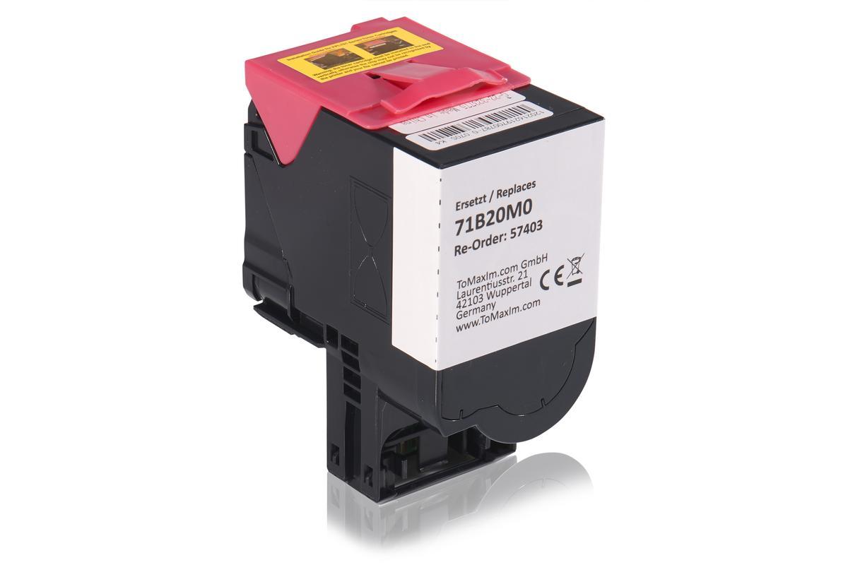 Kompatibel zu Lexmark 71B20M0 Tonerkartusche, magenta