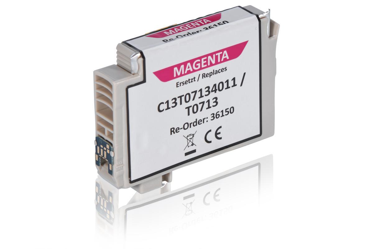 Kompatibel zu Epson C13T07134011 / T0713 Tintenpatrone, magenta