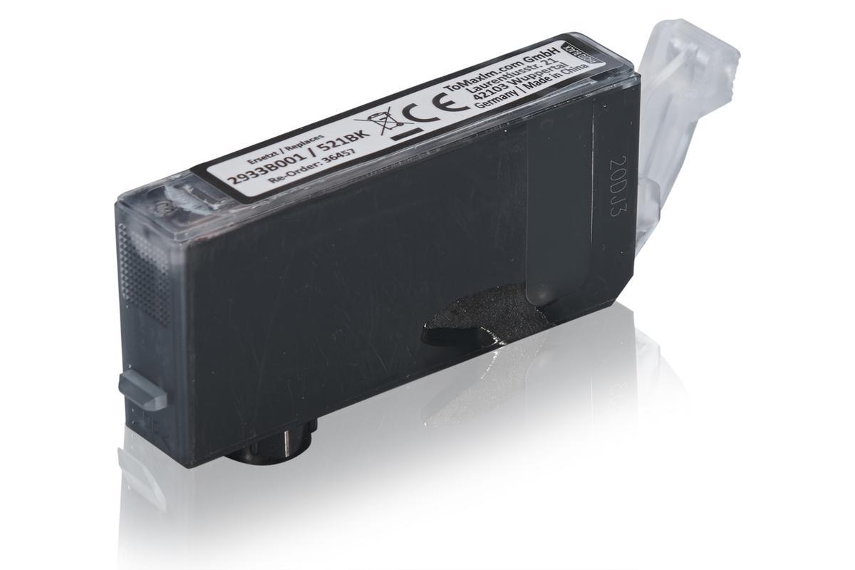 Kompatibel zu Canon 2933B001 / CLI-521BK Tintenpatrone, foto schwarz