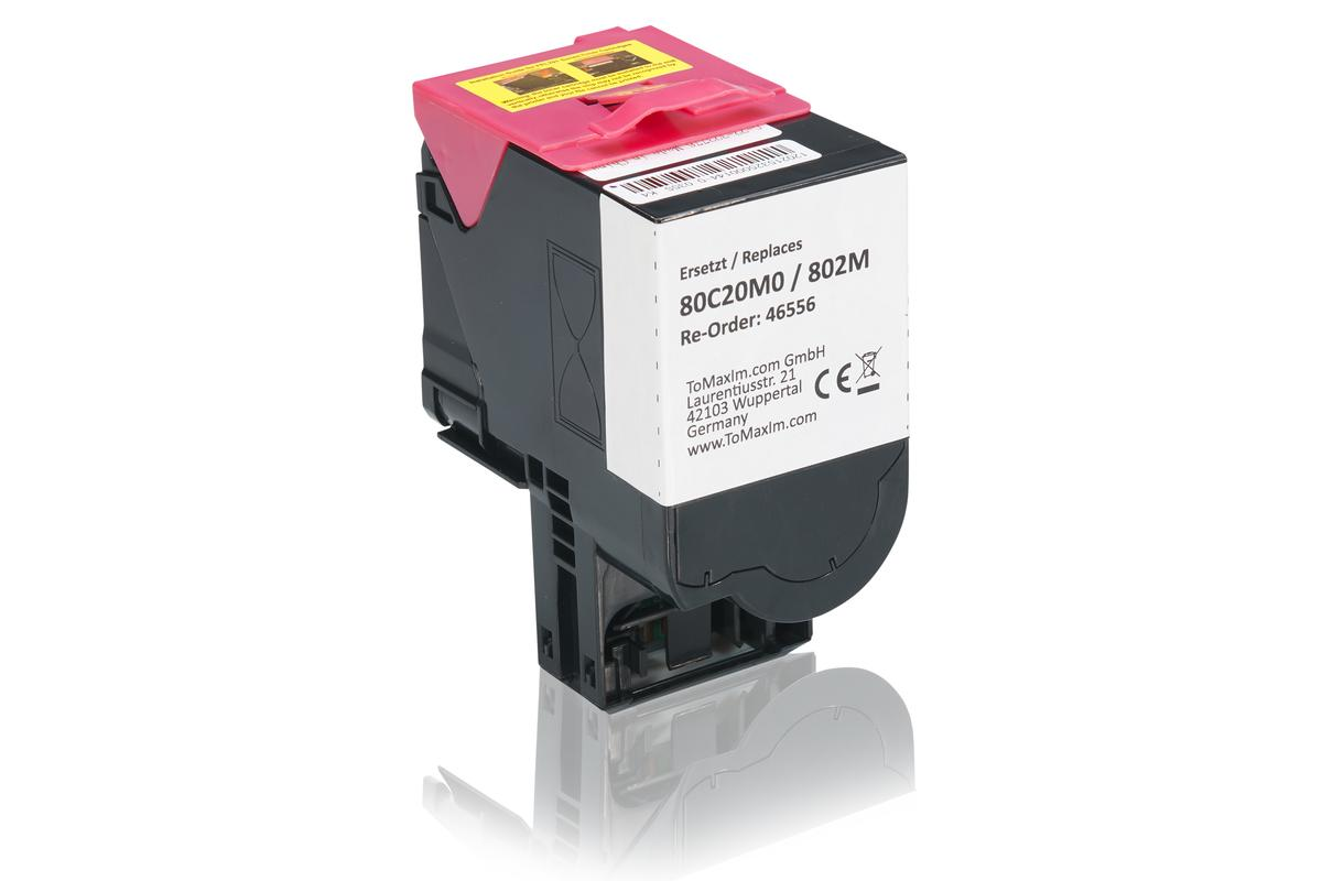 Kompatibel zu Lexmark 80C20M0 / 802M Tonerkartusche, magenta
