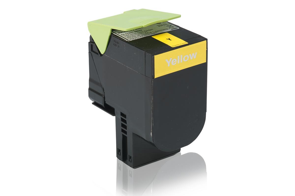 Kompatibel zu Lexmark 80C20Y0 / 802Y Tonerkartusche, gelb