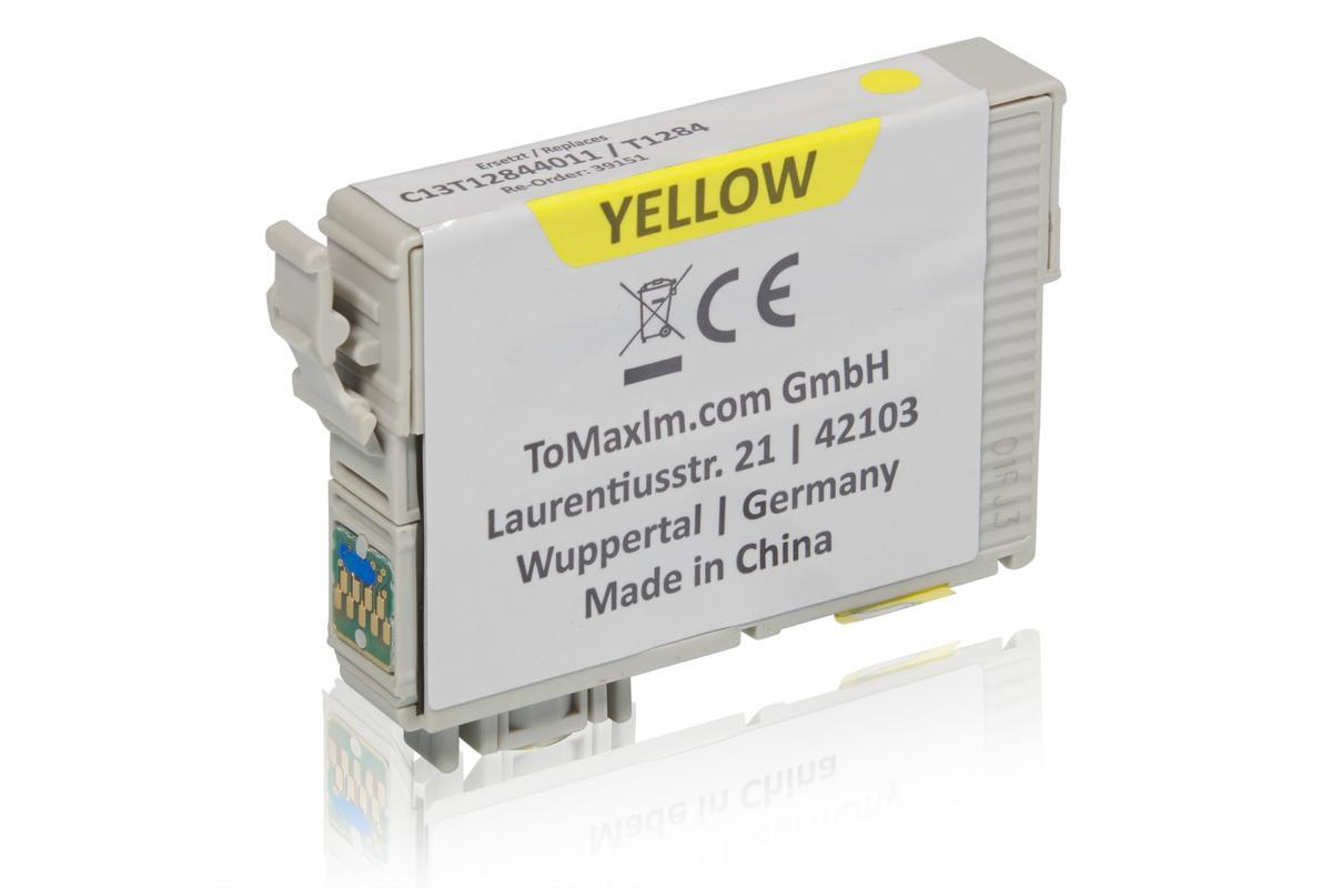 Alternative à Epson C13T12844011 / T1284 XL Cartouche d'encre, jaune