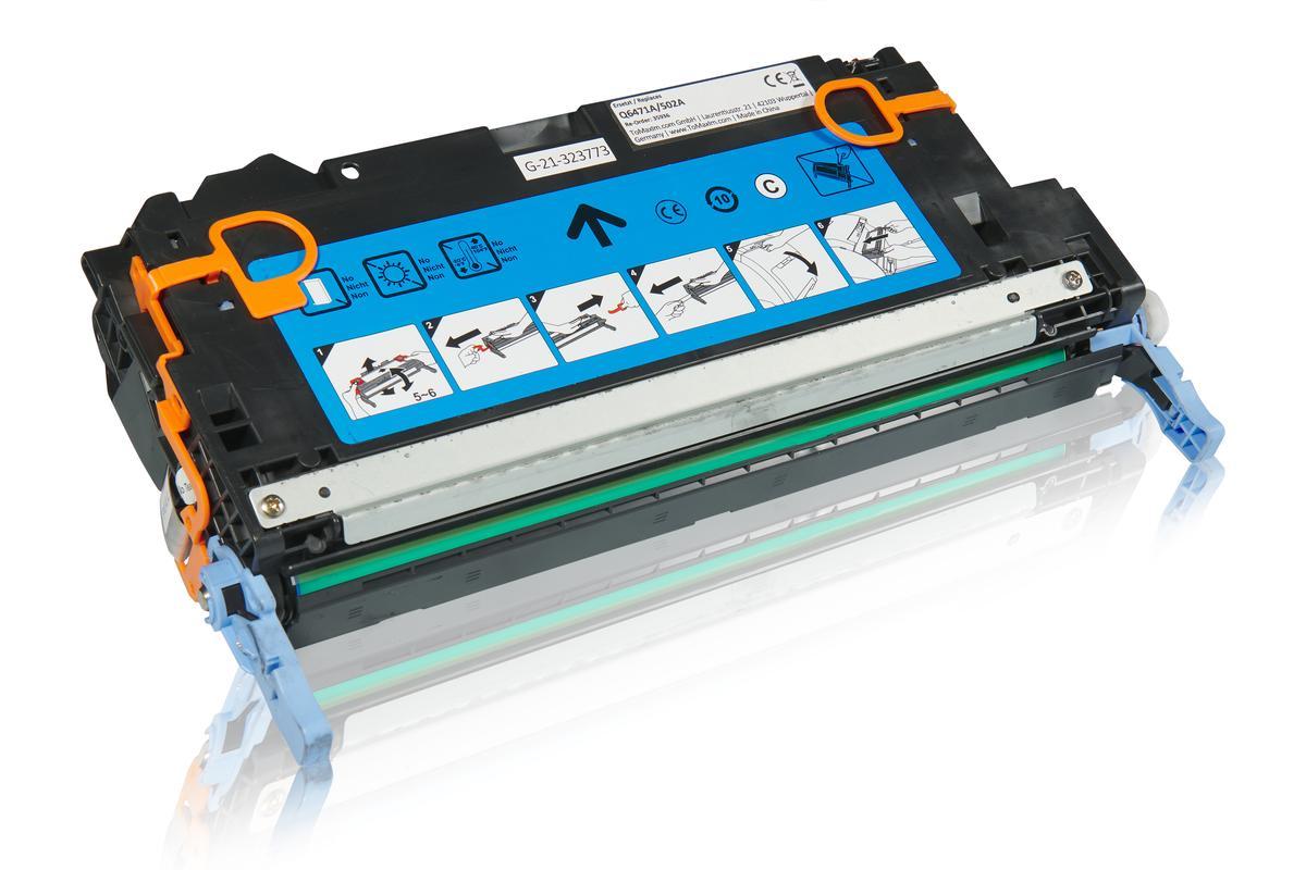 Kompatibel zu HP Q6471A / 502A Tonerkartusche, cyan