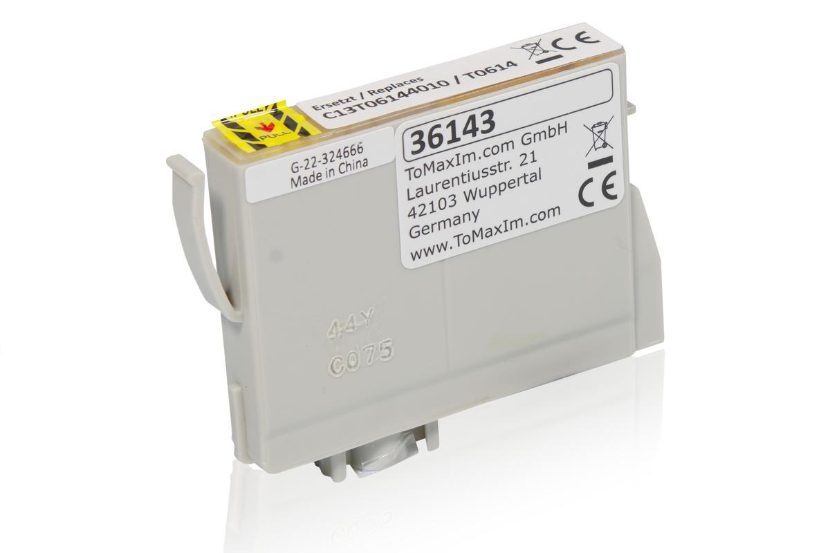 Alternative à Epson C13T06144010 / T0614 XL Cartouche d'encre, jaune