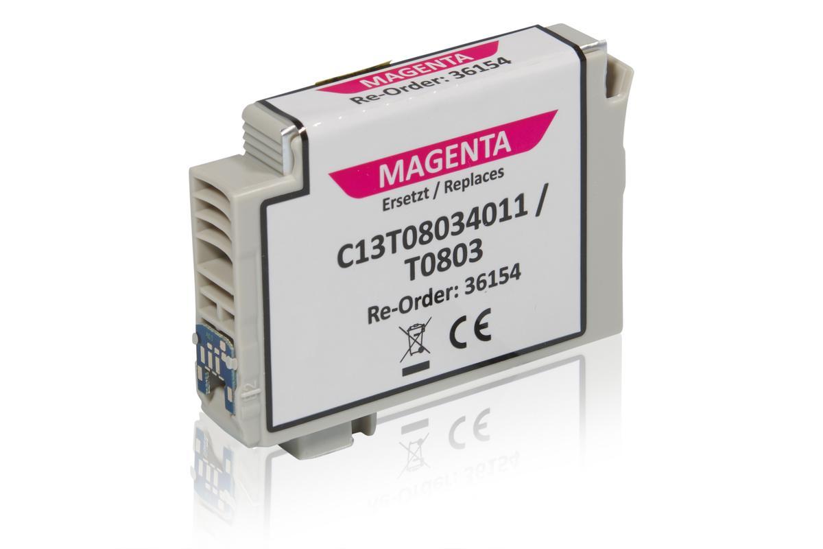 Kompatibel zu Epson C13T08034011 / T0803 XL Tintenpatrone, magenta