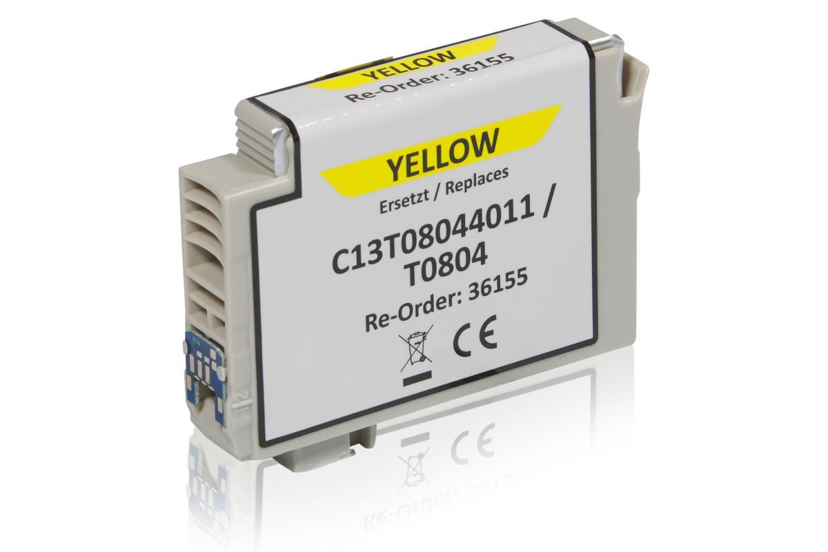 Kompatibel zu Epson C13T08044011 / T0804 Tintenpatrone, gelb
