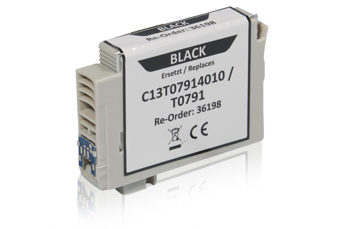 Kompatibel zu Epson C13T07914010 / T0791 Tintenpatrone, schwarz