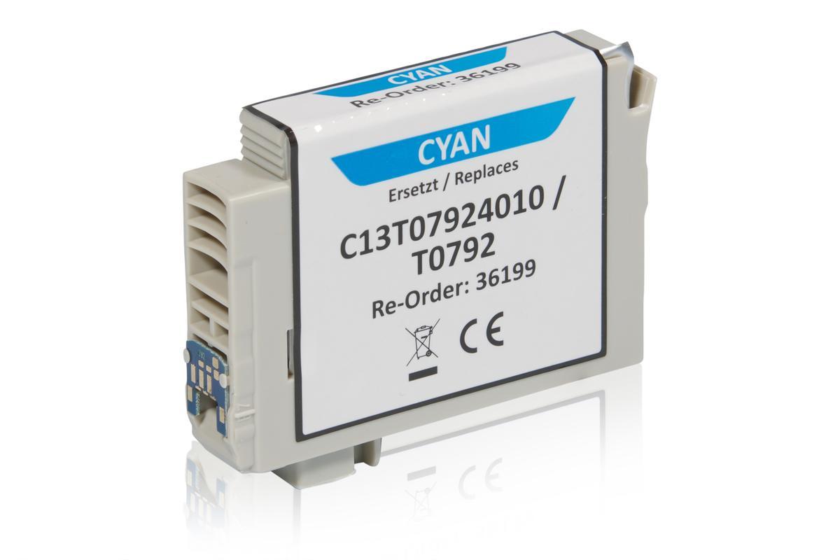 Kompatibel zu Epson C13T07924010 / T0792 Tintenpatrone, cyan