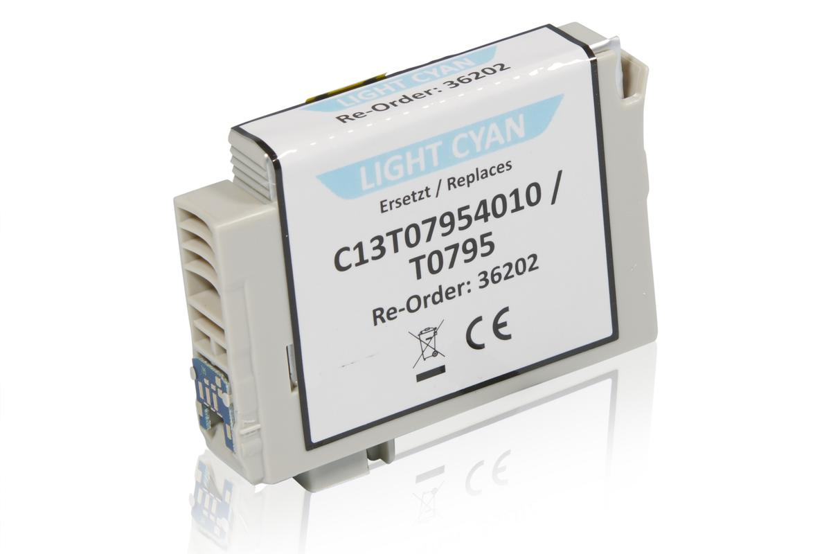 Kompatibel zu Epson C13T07954010 / T0795 Tintenpatrone, light cyan