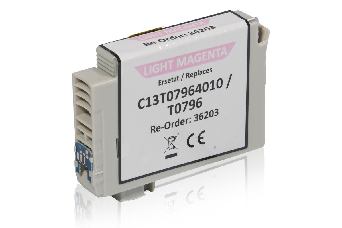 Kompatibel zu Epson C13T07964010 / T0796 Tintenpatrone, light magenta
