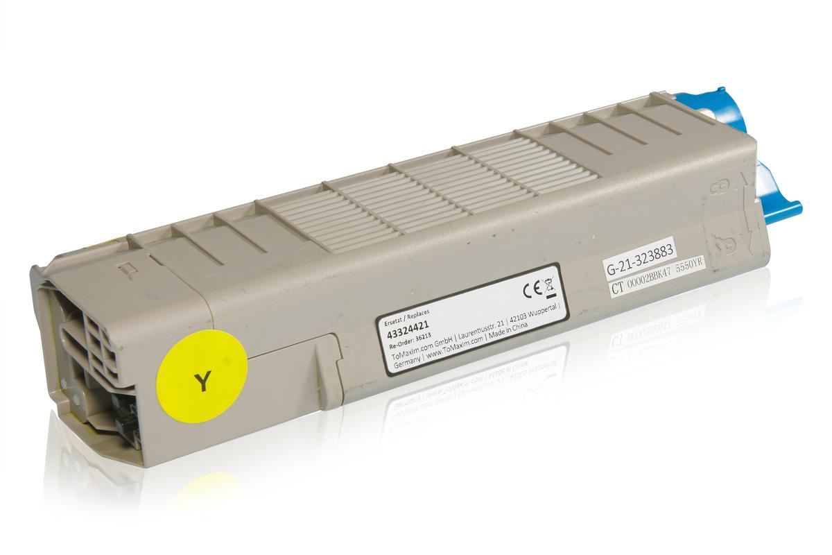 Kompatibel zu OKI 43324421 / C5800 Tonerkartusche, gelb