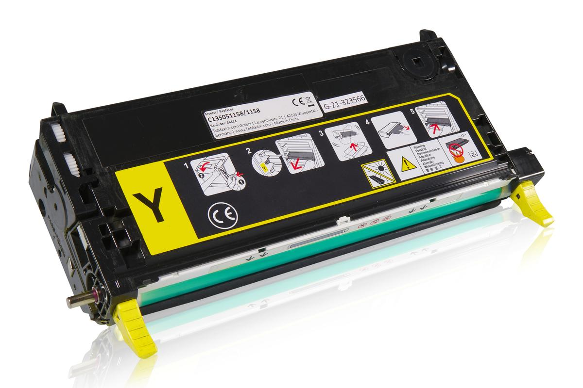 Kompatibel zu Epson C13S051158 / 1158 Tonerkartusche, gelb
