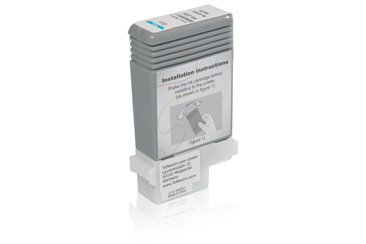 Kompatibel zu Canon 0896B001 / PFI-102C Tintenpatrone, cyan