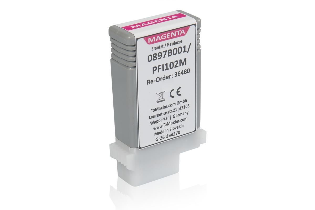 Kompatibel zu Canon 0897B001 / PFI-102M Tintenpatrone, magenta