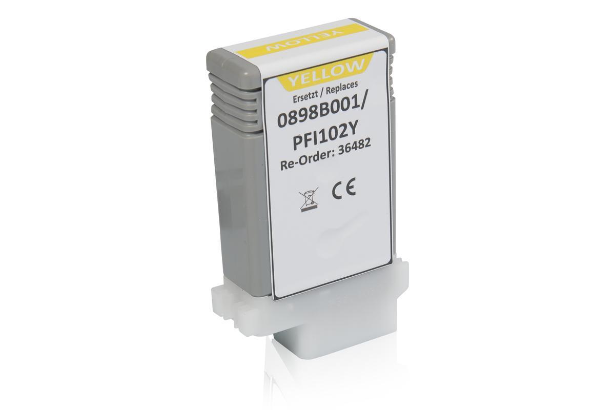 Kompatibel zu Canon 0898B001 / PFI-102Y Tintenpatrone, gelb