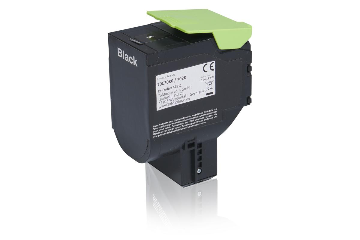 Kompatibel zu Lexmark 70C20K0 / 702K Tonerkartusche, schwarz