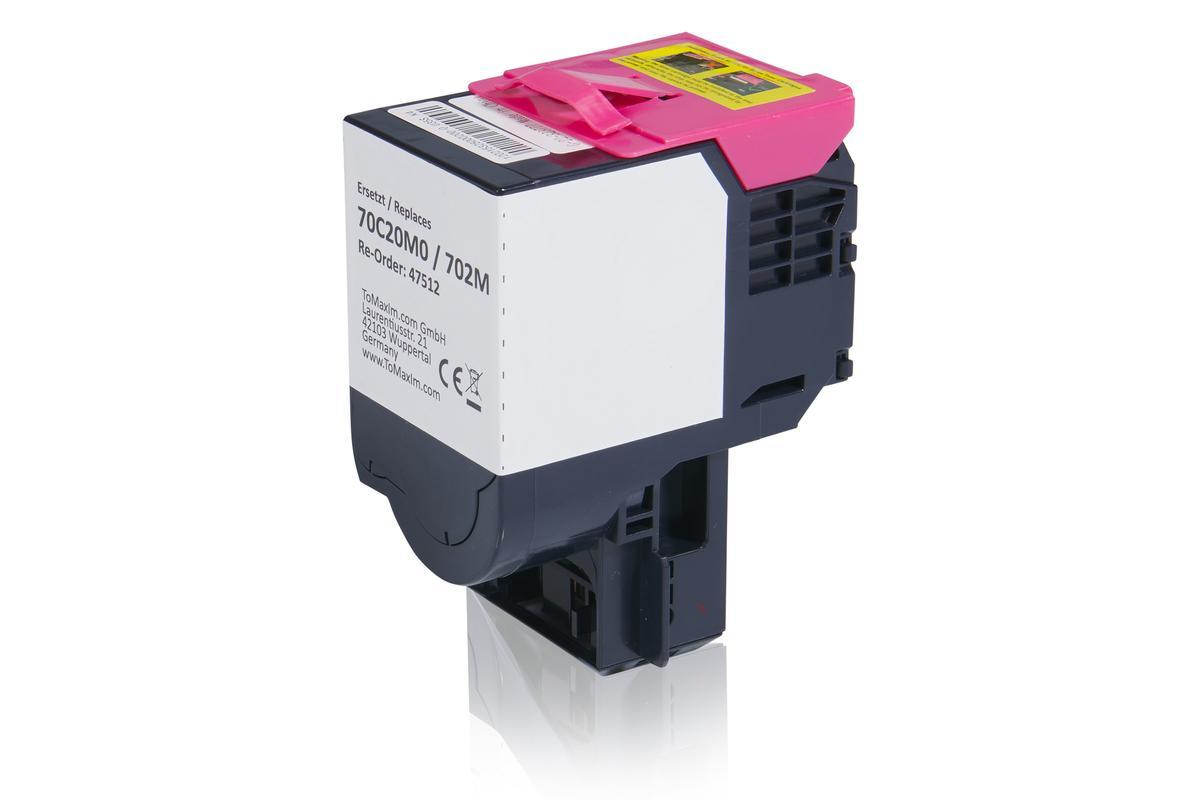 Kompatibel zu Lexmark 70C20M0 / 702M Tonerkartusche, magenta