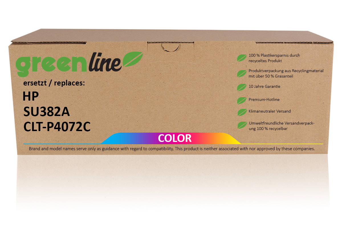 greenline ersetzt HP SU 382 A / CLT-P4072C Tonerkartusche, multipack