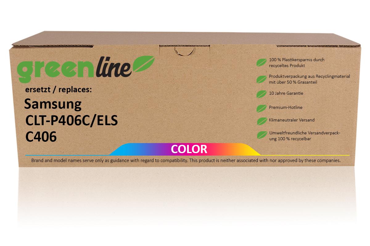 greenline ersetzt Samsung CLT-P 406 C/ELS Tonerkartusche, multipack