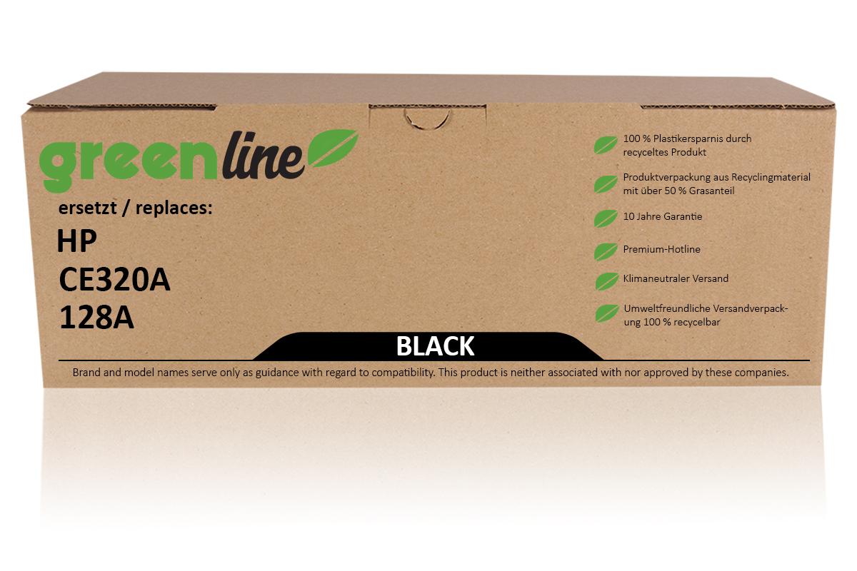 greenline ersetzt HP CE 320 A / 128A Tonerkartusche, schwarz