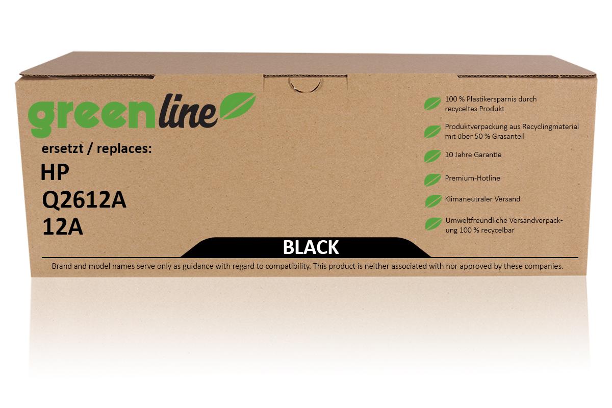 greenline ersetzt HP Q 2612 A / 12A XL Tonerkartusche, schwarz