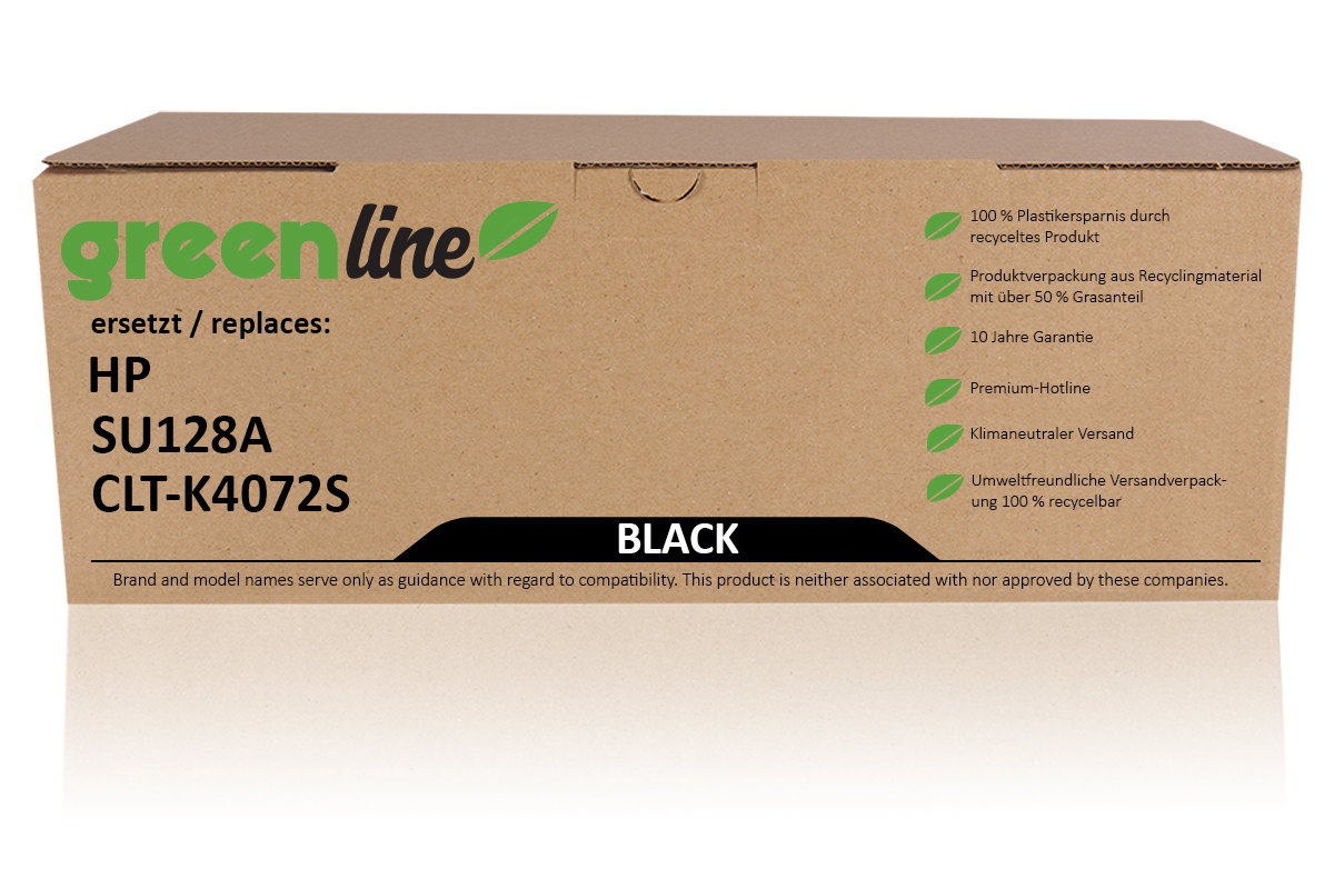 greenline ersetzt HP SU 128 A / CLT-K4072S Tonerkartusche, schwarz