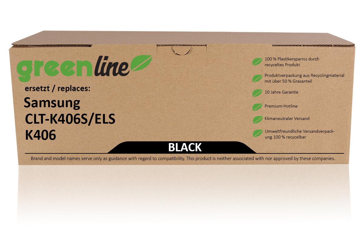 greenline ersetzt Samsung CLT-K 406 S/ELS Tonerkartusche, schwarz