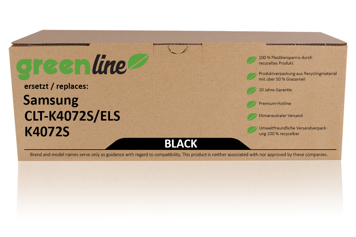 greenline ersetzt Samsung CLT-K 4072 S/ELS / K4072S Tonerkartusche, schwarz