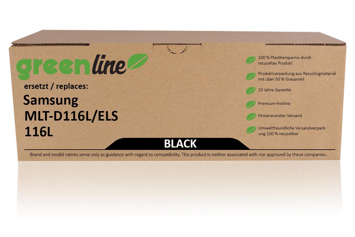 greenline ersetzt Samsung MLT-D 116 L/ELS / 116L XL Tonerkartusche, schwarz