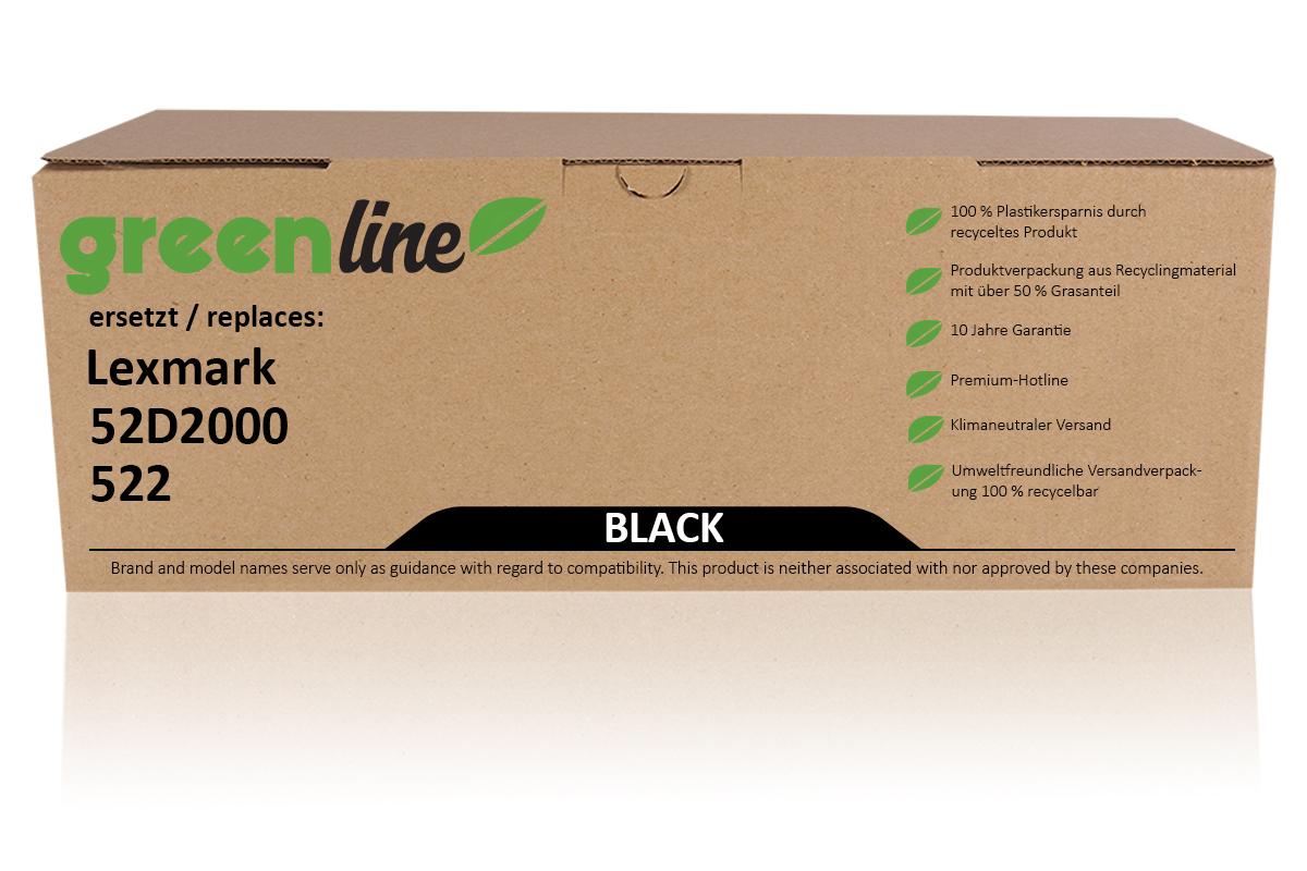 greenline ersetzt Lexmark 52D2000 / 522 Tonerkartusche, schwarz