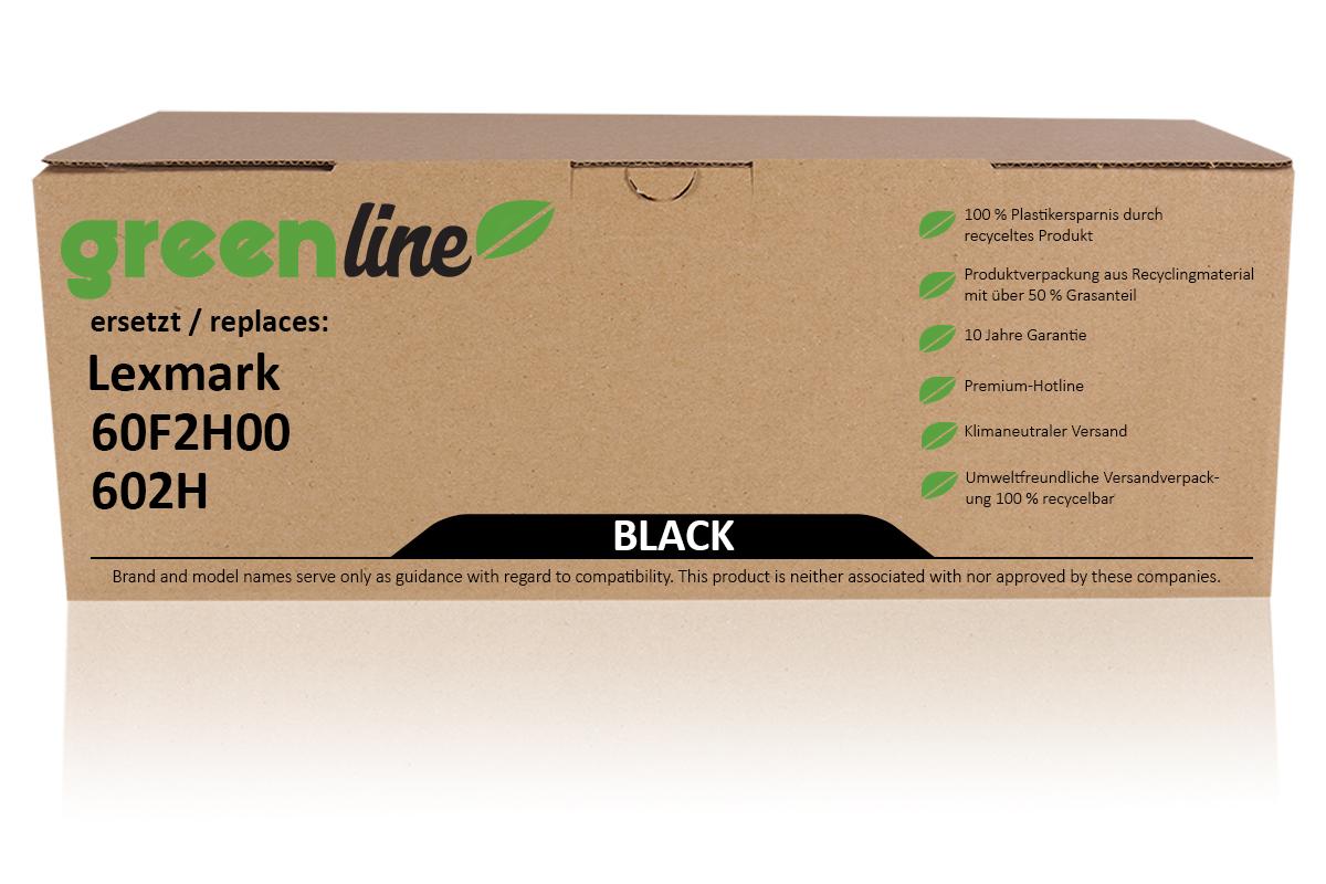 greenline ersetzt Lexmark 60F2H00 / 602H Tonerkartusche, schwarz