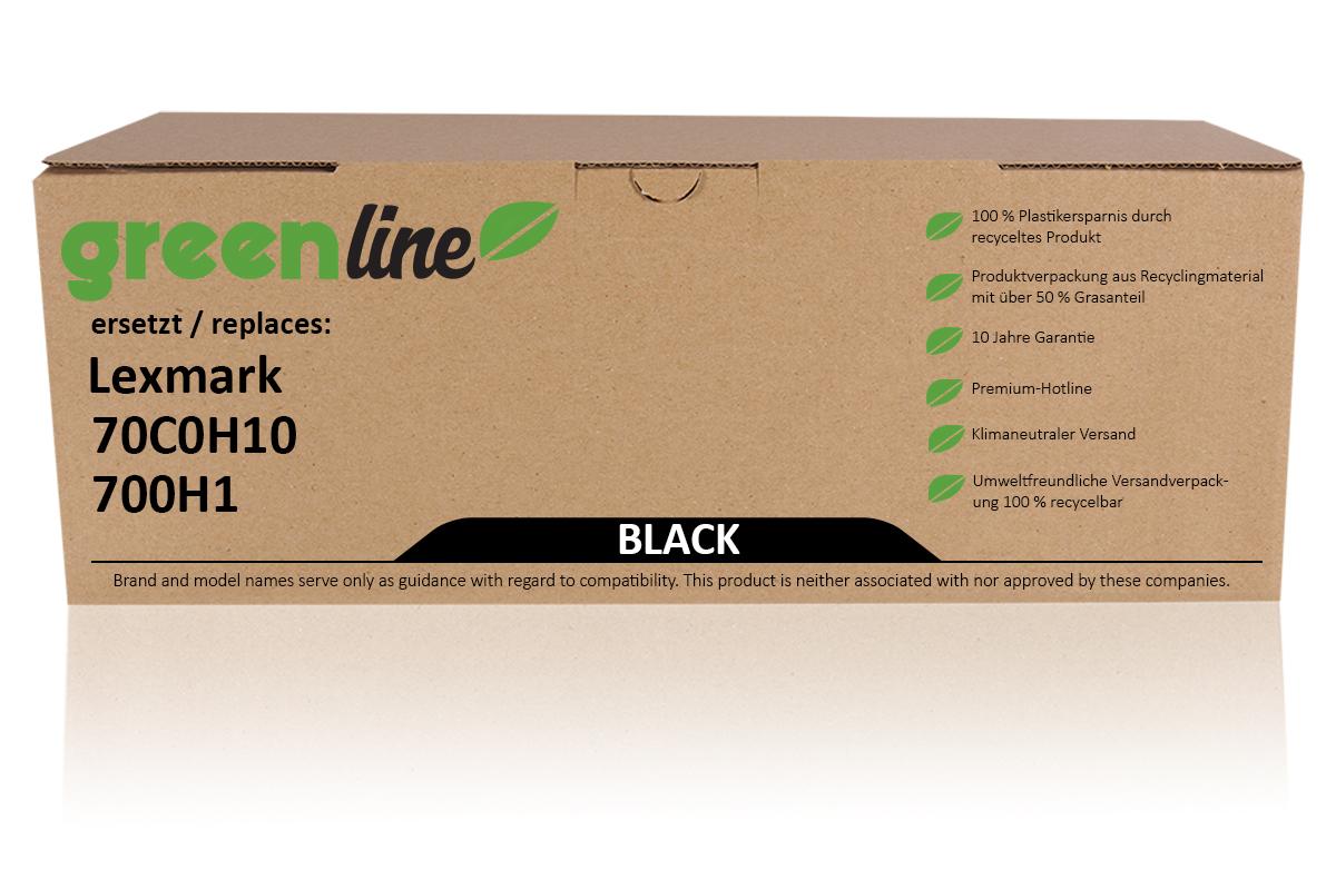 greenline ersetzt Lexmark 70C0H10 / 700H1 Tonerkartusche, schwarz