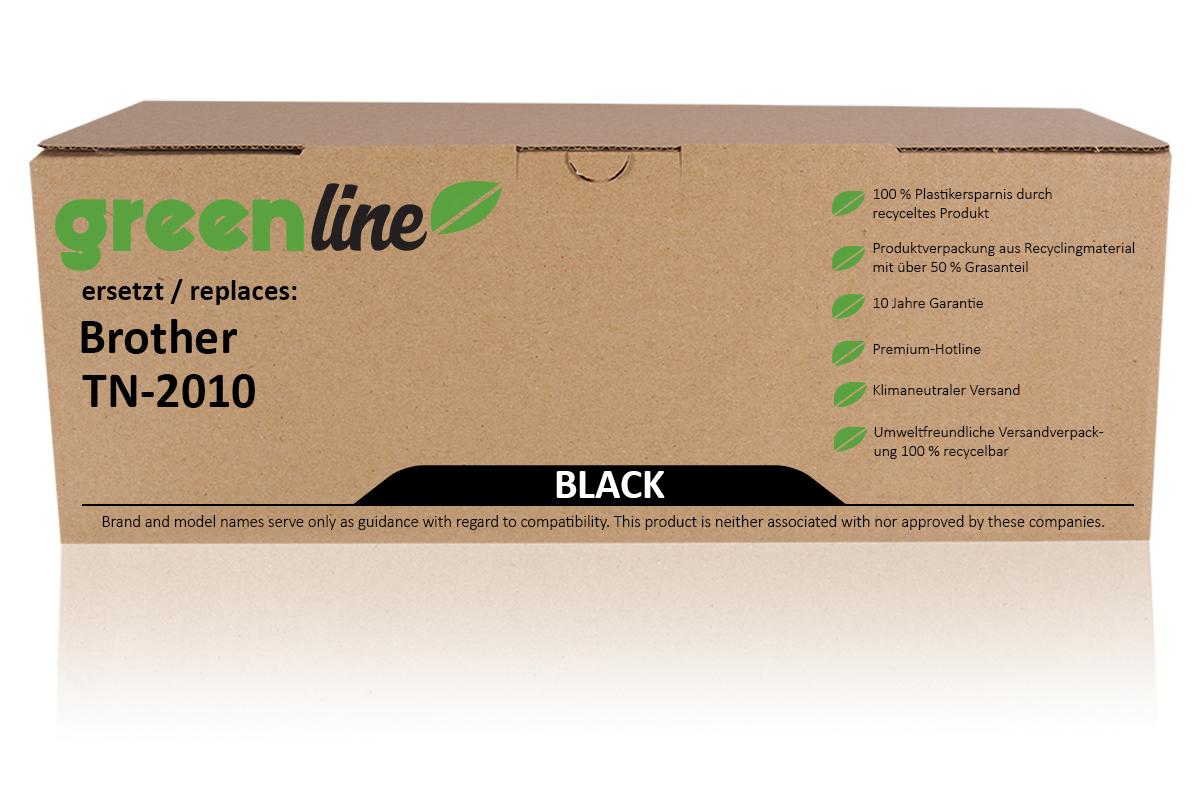 greenline ersetzt Brother TN-2010 XL Tonerkartusche, schwarz