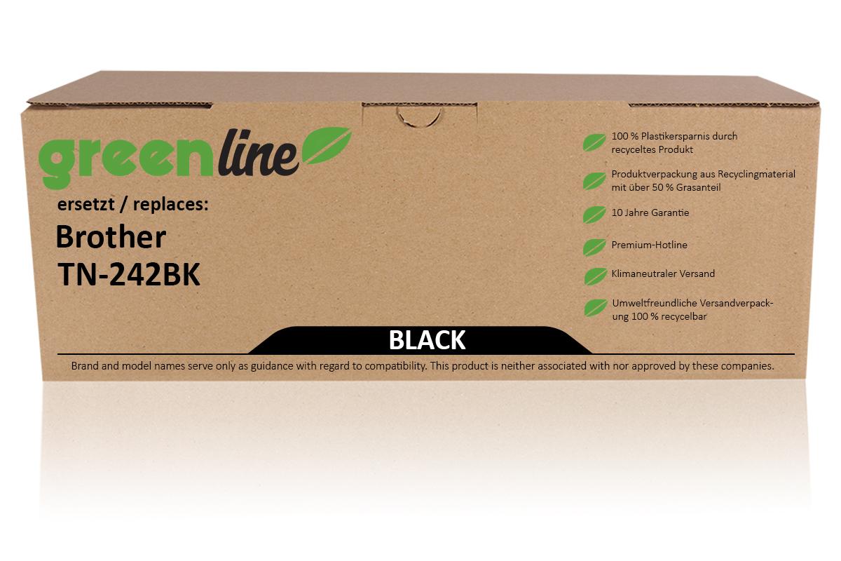 greenline ersetzt Brother TN-242 BK Tonerkartusche, schwarz