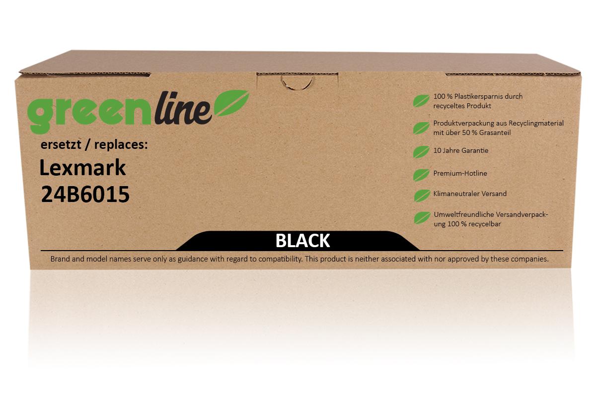 greenline ersetzt Lexmark 24B6015 Tonerkartusche, schwarz