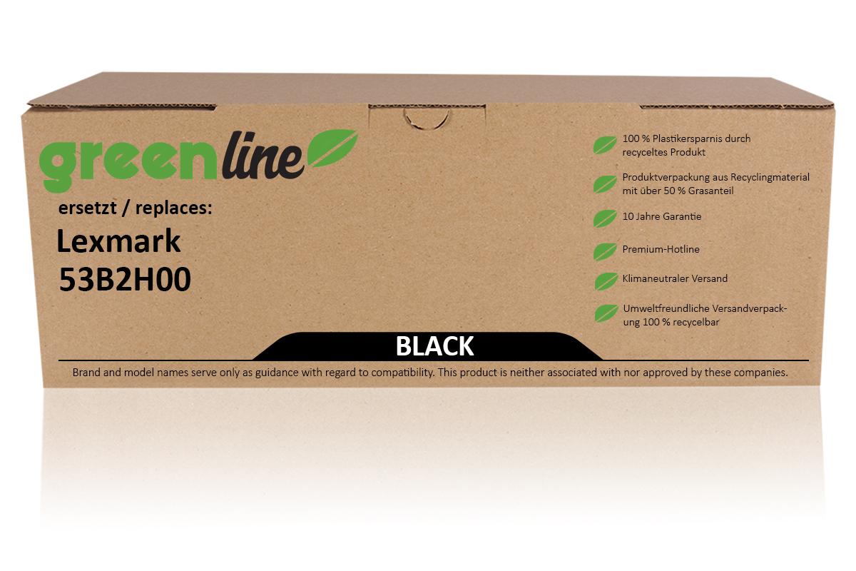 greenline ersetzt Lexmark 53B2H00 Tonerkartusche, schwarz
