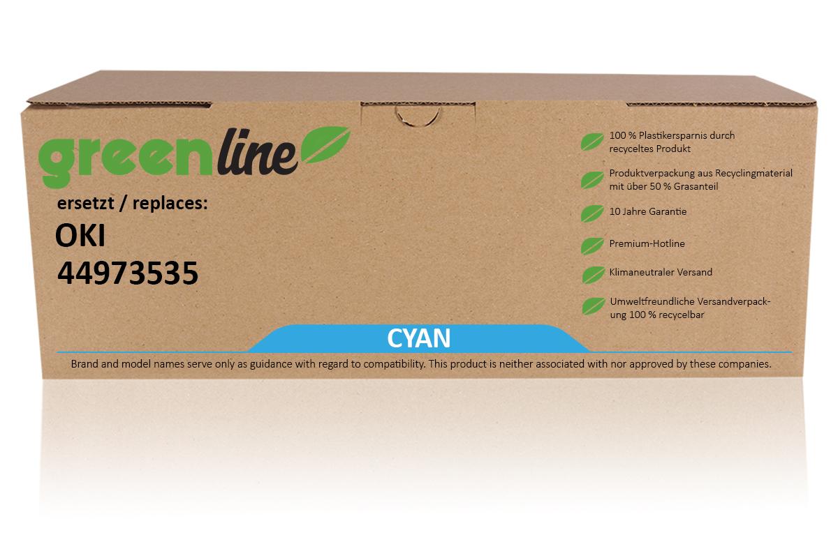 greenline ersetzt OKI 44973535 / C301 Tonerkartusche, cyan