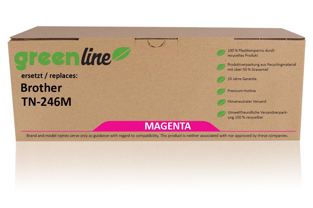 greenline ersetzt Brother TN-246 M Tonerkartusche, magenta