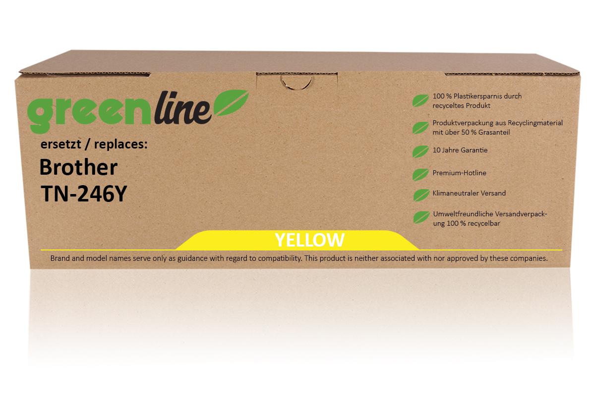 greenline ersetzt Brother TN-246 Y Tonerkartusche, gelb