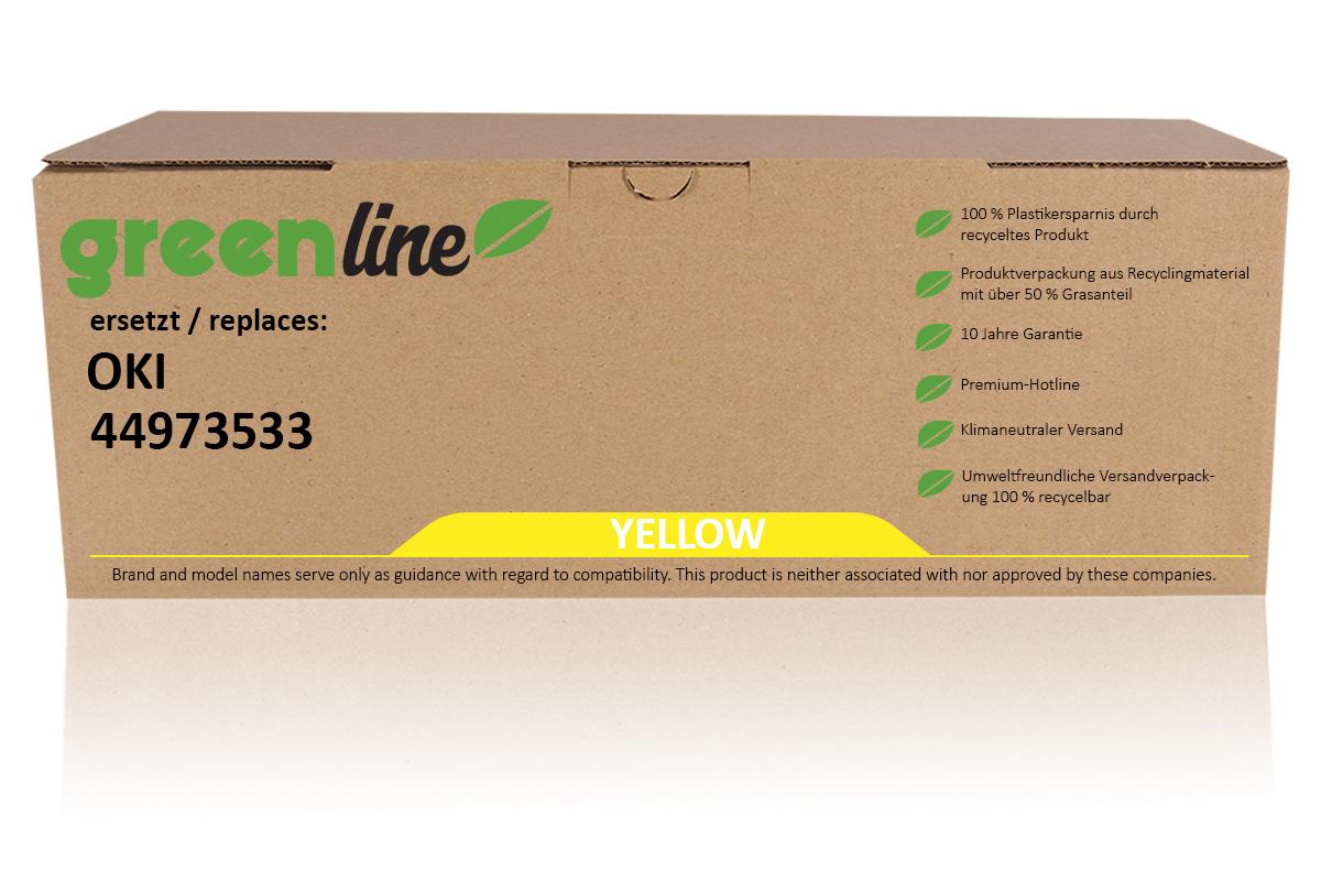 greenline ersetzt OKI 44973533 / C301 Tonerkartusche, gelb