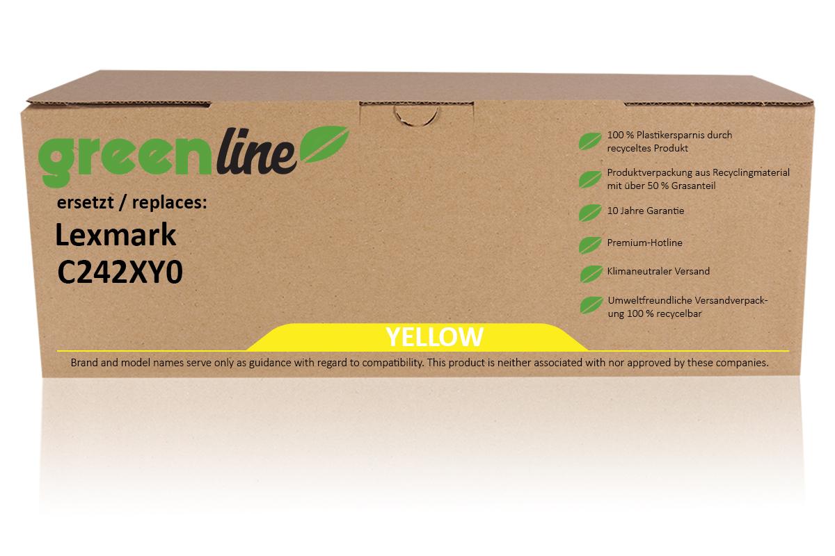 greenline ersetzt Lexmark C242XY0 Tonerkartusche, gelb