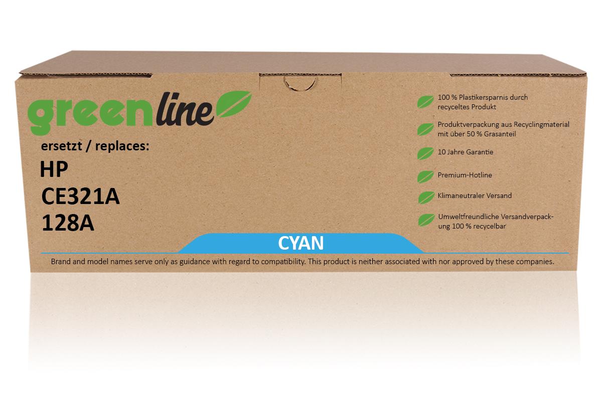 greenline ersetzt HP CE 321 A / 128A Tonerkartusche, cyan