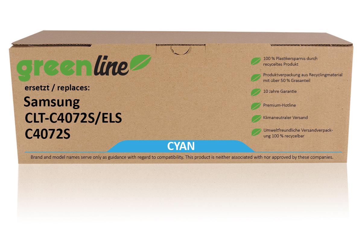 greenline ersetzt Samsung CLT-C 4072 S/ELS / C4072S Tonerkartusche, cyan