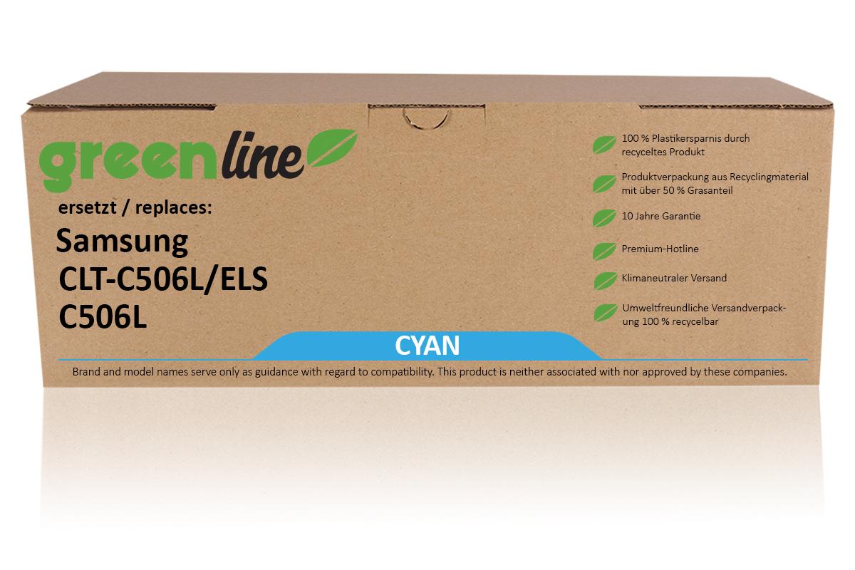 greenline ersetzt Samsung CLT-C 506 L/ELS / C506L Tonerkartusche, cyan