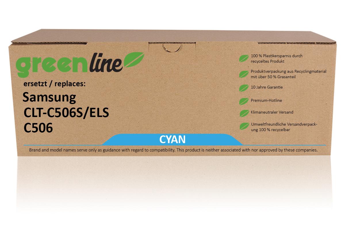 greenline ersetzt Samsung CLT-C 506 S/ELS / C506 XL Tonerkartusche, cyan