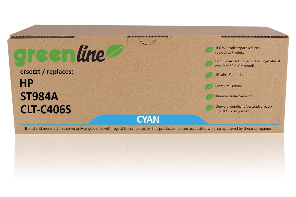 greenline ersetzt HP ST 984 A / CLT-C406S Tonerkartusche, cyan