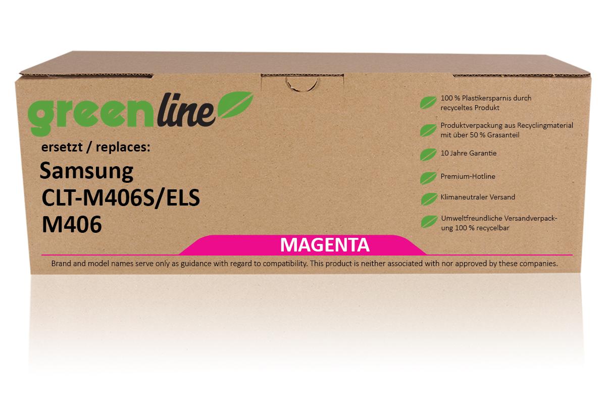 greenline ersetzt Samsung CLT-M 406 S/ELS Tonerkartusche, magenta