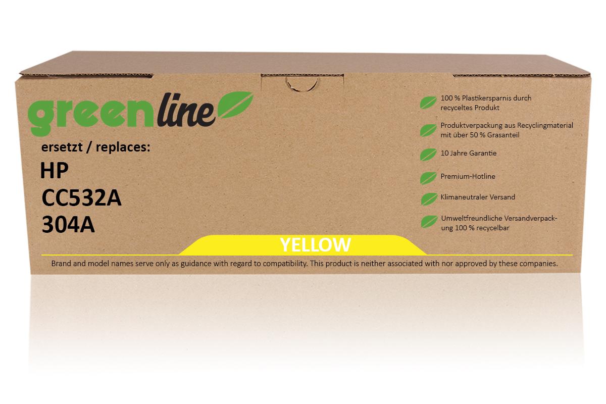 greenline ersetzt HP CC 532 A / 304A Tonerkartusche, gelb