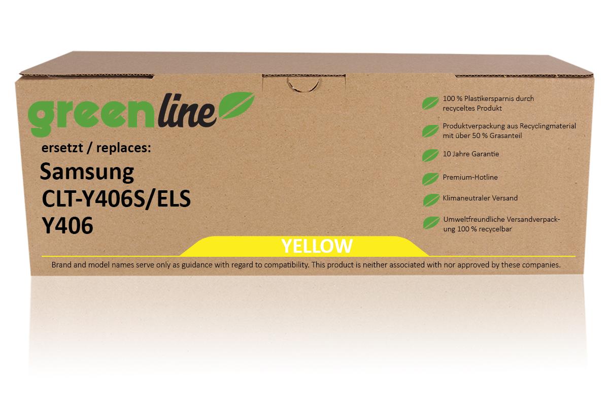greenline ersetzt Samsung CLT-Y 406 S/ELS Tonerkartusche, gelb
