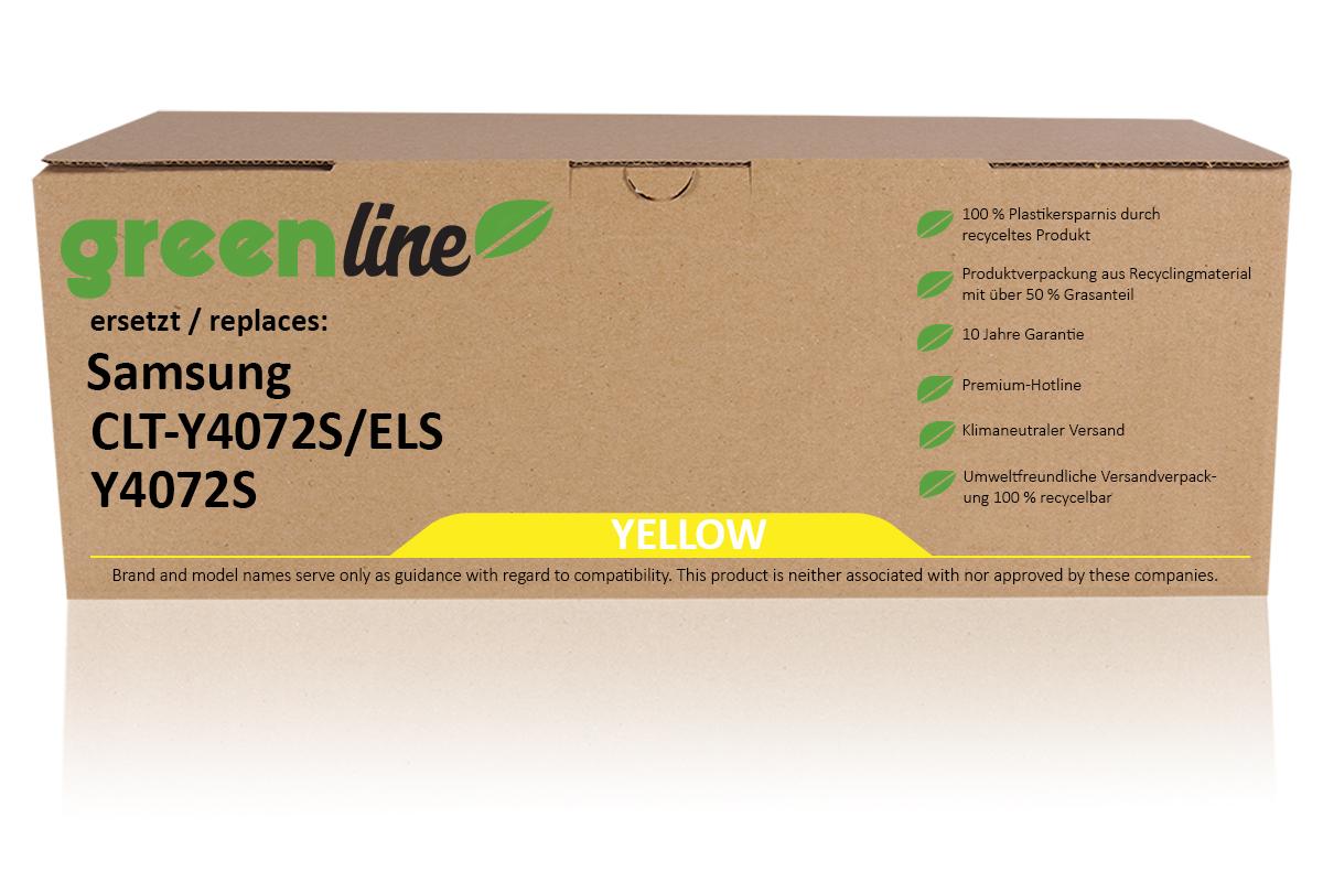 greenline ersetzt Samsung CLT-Y 4072 S/ELS / Y4072S Tonerkartusche, gelb